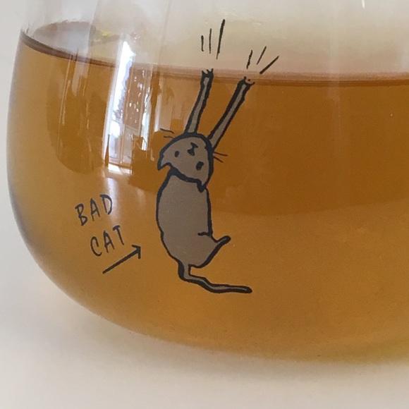 "Other - Coffee tea mug ""bad cat' glass 12oz"